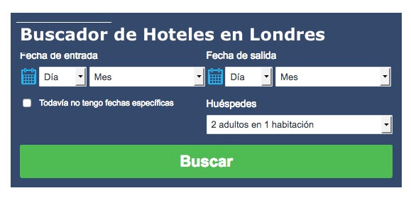 Buscador de Hoteles en Londres